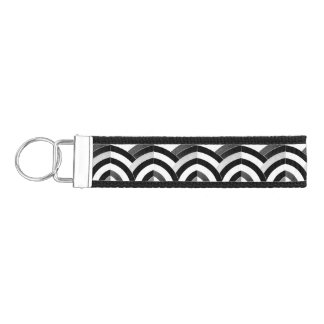 chic sophisticated multi-color chevrons wrist keychain