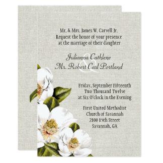 Southern invitations announcements zazzle for Magnolia tree wedding invitations
