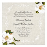 Chic Southern Magnolias & Hummingbirds Wedding Invites