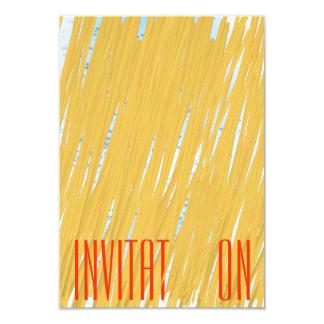 Chic Spaghetti Pasta Italian Dinner Invitation
