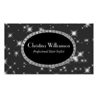 Chic Sparkle Rhinestones Business Card Template