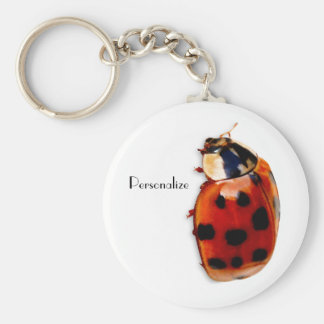Chic Spotted Ladybug With Name Keychain