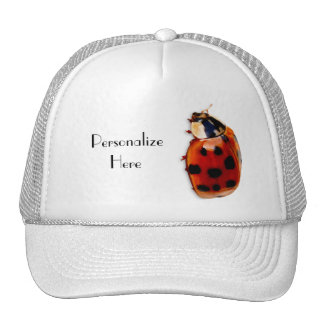 Chic Spotted Ladybug With Name Trucker Hat