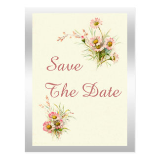 Chic Spring Flowers 80th Birthday Save The Date Postcard