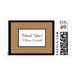 CHIC STAMP_HANDSOME THANK YOU_CAMEL/WHITE/BLACK POSTAGE