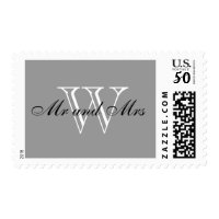 "CHIC STAMP_""Mr and Mrs"" BLACK/WHITE/GRAY Postage"