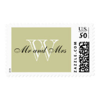 "CHIC STAMP_""Mr and Mrs"" BLACK/WHITE/NATURAL Postage"