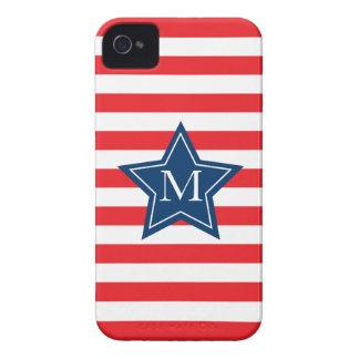 Chic Star and Stripes Monogram iPhone 4/4S Case