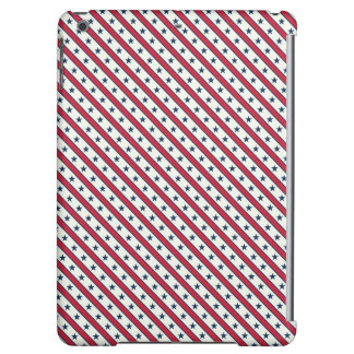 Chic striped american Labor Day Pattern with Stars iPad Air Cover