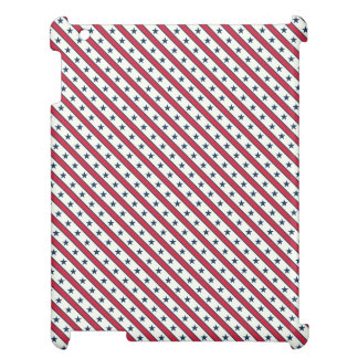Chic striped american Labor Day Pattern with Stars iPad Cases