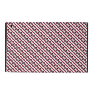 Chic striped american Labor Day Pattern with Stars iPad Folio Case