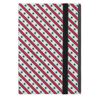 Chic striped american Labor Day Pattern with Stars iPad Mini Case