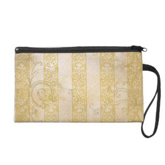 Chic Stripes and Scrolls Wristlet Bag
