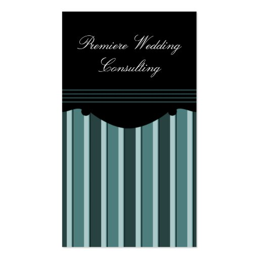 Chic Stripes Business Card, Teal