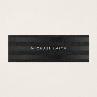 Chic Stripes Faux Leather Mini Business Card