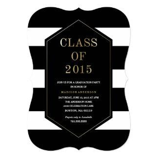Chic Stripes | Graduation Invitation