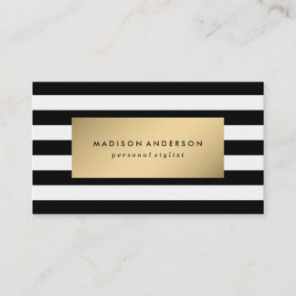 Tractor business cards tractorama chic stripes in gold business cards reheart Gallery