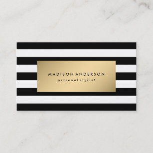 Gold business cards zazzle chic stripes in gold business cards colourmoves