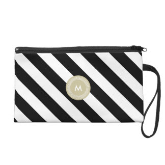Chic StripesWristlet Makeup Holder Organizer Pouch