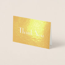 Chic Stylish Font Thank You Foil Card