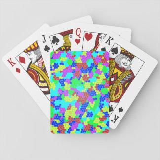 Chic Stylish Multicolor Rainbow Mosaic Pattern Playing Cards