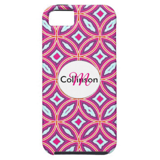 Chic Stylish Pink Blue Mix Moroccan Tile Patterned iPhone SE/5/5s Case