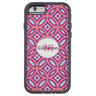 Chic Stylish Pink Blue Mix Moroccan Tile Patterned Tough Xtreme iPhone 6 Case