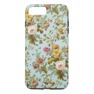 Chic Stylish Vintage Pink Rose Flower Pattern iPhone 7 Plus Case