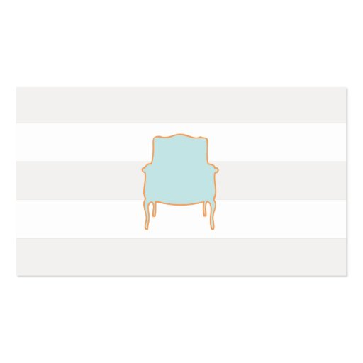 Chic Subtle Stripes French Chair  Business Card