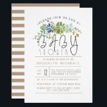 "Chic Succulent Garden | Watercolor Baby Shower Invitation<br><div class=""desc"">By Redefined Designs</div>"