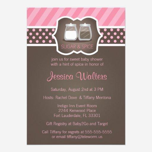custom sugar and spice invites templates | babyfavors4u, Baby shower invitations