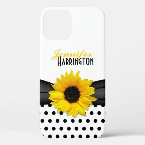 Chic Sunflower Polka Dot Phone Case