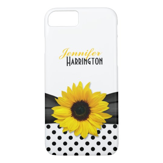 Chic Sunflower Polka Dot iPhone 7 Case