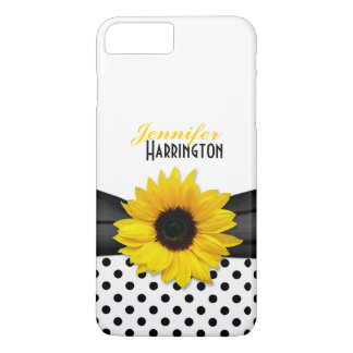 Chic Sunflower Polka Dot iPhone 7 Plus Case
