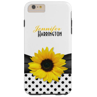 Chic Sunflower Polka Dot Tough iPhone 6 Plus Case