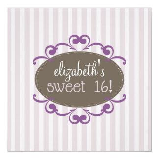Chic Sweet 16 Birthday Party Invitation (lavender)