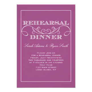 Chic Swirl Rehearsal Dinner Invitation