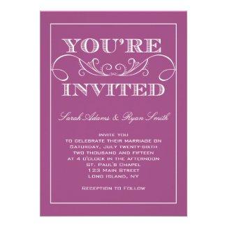 RADIANT ORCHID WEDDING INVITATIONS