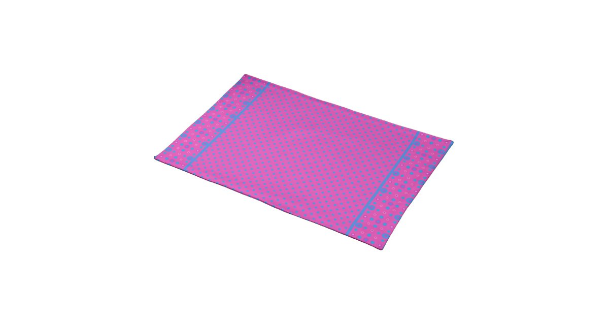Chic Table Mat Magenta Bright Blue Dots Placemat Zazzle : chictablematmagentabrightbluedotsplacemat re7431342f8304656a87f8147cc27f1102cfk18byvr630 from www.zazzle.com size 1200 x 630 jpeg 42kB
