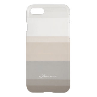 Chic Taupe, Cream and Gray striped iPhone 7 case