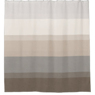 chic taupe cream and gray striped shower curtaingray shower curtains zazzle