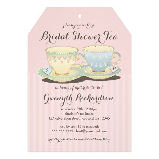 Invitation wording for bridal shower tea party matik for for Bridal shower party invitations