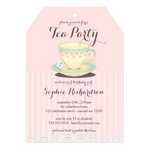 Teacup Invitations Zazzle