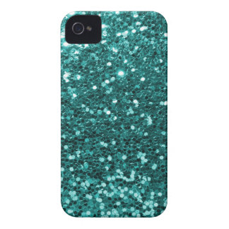 Chic Teal Faux Glitter iPhone 4 Case-Mate Case