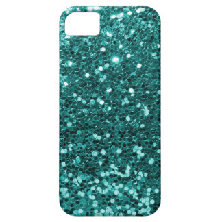 Chic Teal Faux Glitter iPhone SE/5/5s Case