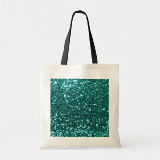 Chic Teal Faux Glitter Tote Bag