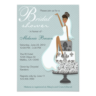 Chic Teal Modern Bride Contemporary Bridal Shower Card
