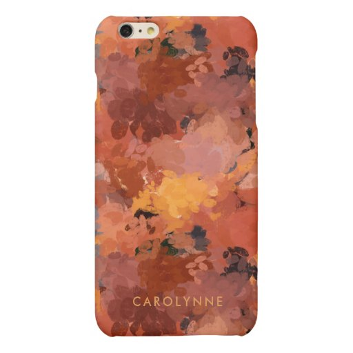 Chic Terracotta Rust Abstract Matte iPhone 6 Plus Case