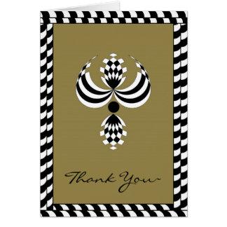 CHIC THANK NOTE_47 KAKKI/BLACK/WHITE CARD