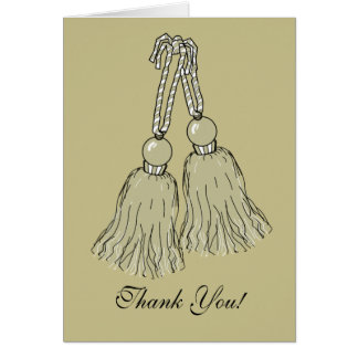 CHIC THANK YOU CARD_STONE TASSELS CARD
